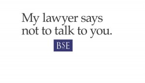 Image of business card for Barry S. Edwards that says My Lawyer Says Not to Talk to You